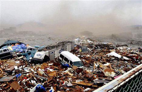 пожежі від землетрусу в Японії