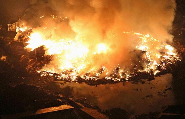 пожары от землетрясения